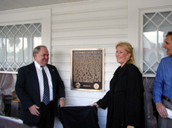 Unveiling the Carver Walk Plaque