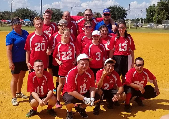 PICTURE OF THE SPECIAL OLYMPIC SOFTBALL TEAM