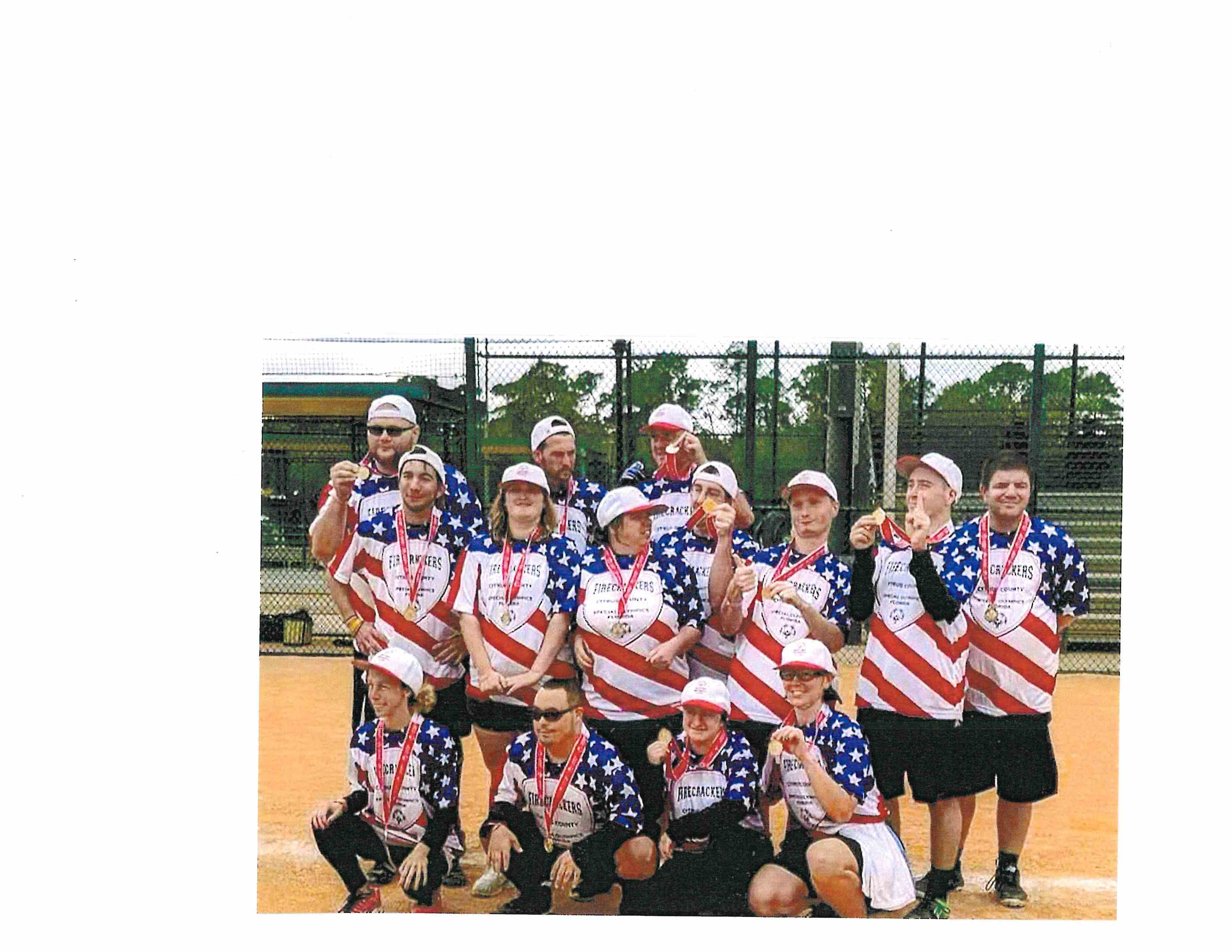 Picture of 2019 Special Olympics Softball Team