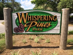 Whispering Pines Entry Sign