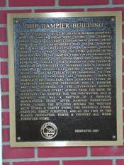 Dampier Building plaque