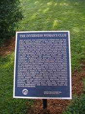 Woman's Club plaque