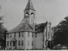 Old Victorian courthouse (Courtesy of the Citrus County Historical Society)