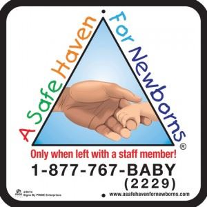 Sign for Safe Haven for Babies
