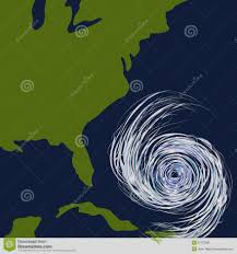 Picture of Hurricane approaching US