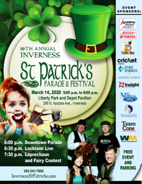 St Patricks Parade and Festival Poster